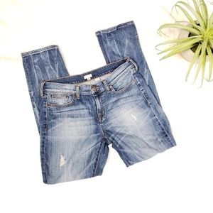 J. Crew Factory Distressed Midrise Skinny Jeans